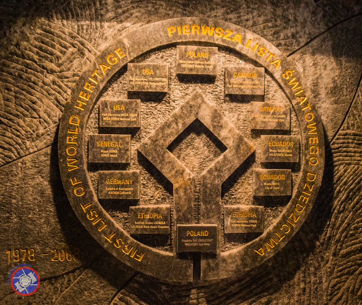 The UNESCO World Heritage Site Emblem Proudly Displayed in the Wieliczka Salt Mine (©simon@myeclecticimages.com)