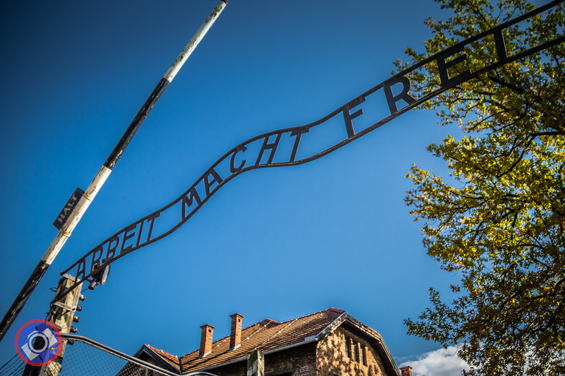The Iconic Entrance to Auschwitz Concentration Camp - Preserved to Remind Us All of the Atrocities of War (©simon@myeclecticimages.com)