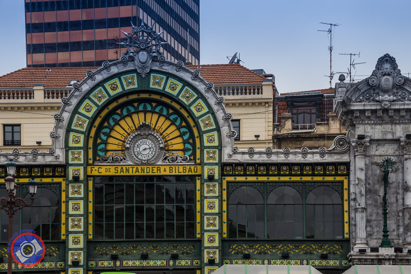 The Art Deco Facade at the Santander Train Station in Bilbao (©simon@myeclecticimages.com)