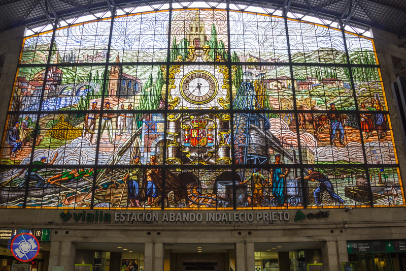 Stained Glass at the Abando Train Station in Bilbao (©simon@myeclecticimages.com)
