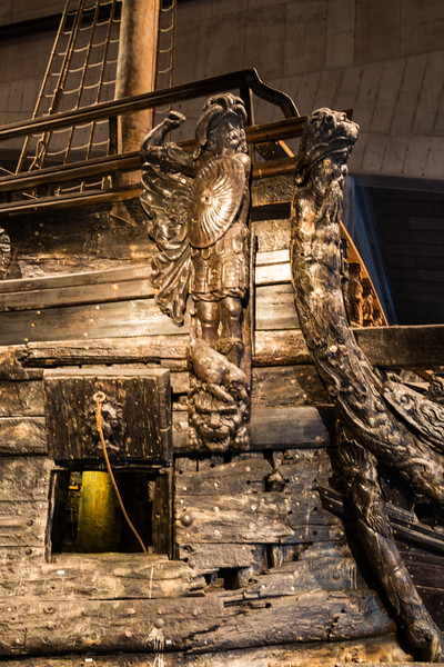 Carved Detail Near the Foredeck of the Vasa (©simon@myeclecticimages.com)