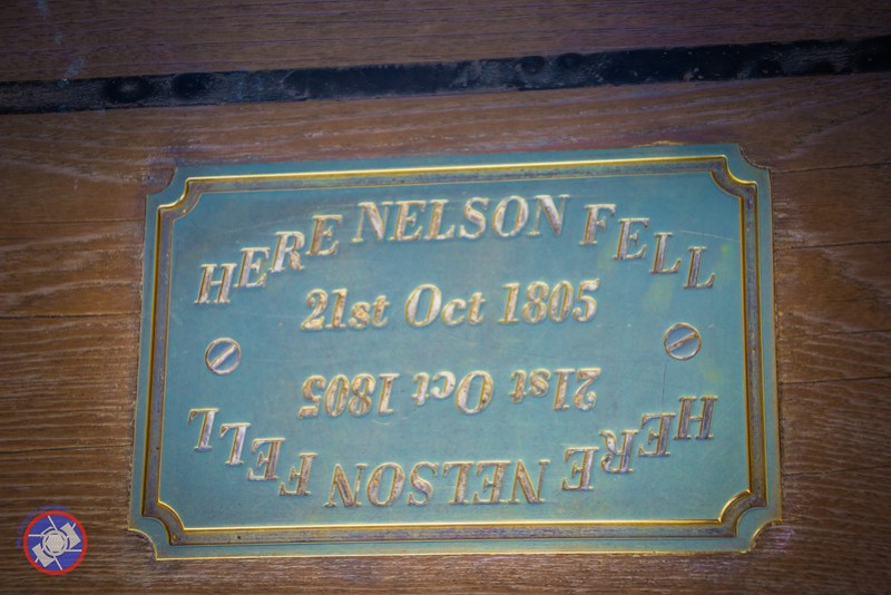 Bronze Plaque Marking the Spot on Deck Where Nelson Was Mortally Wounded (©simon@myeclecticimages.com)