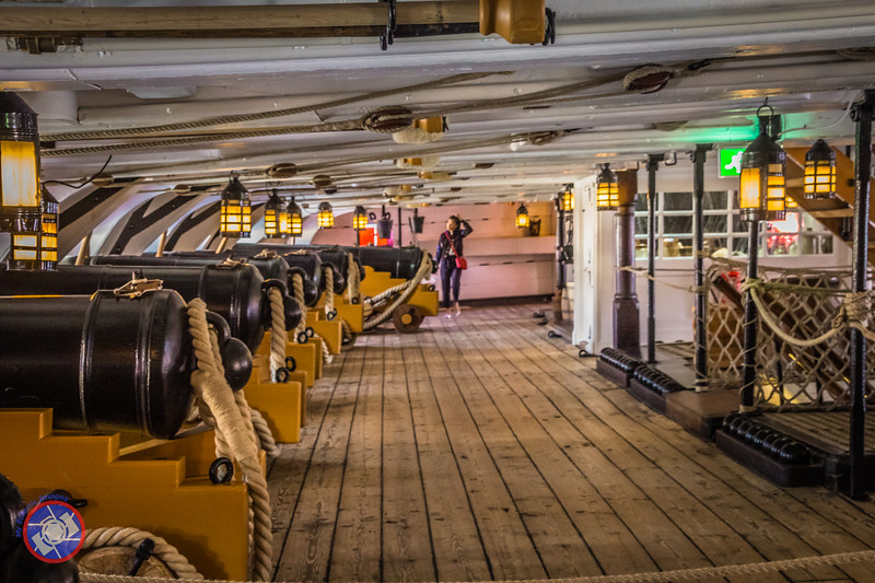 Part of the Gun Deck on HMS Victory (©simon@myeclecticimages.com)