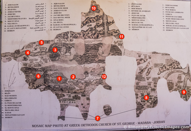 Key to the Mosaic Map (©simon@myeclecticimages.com)