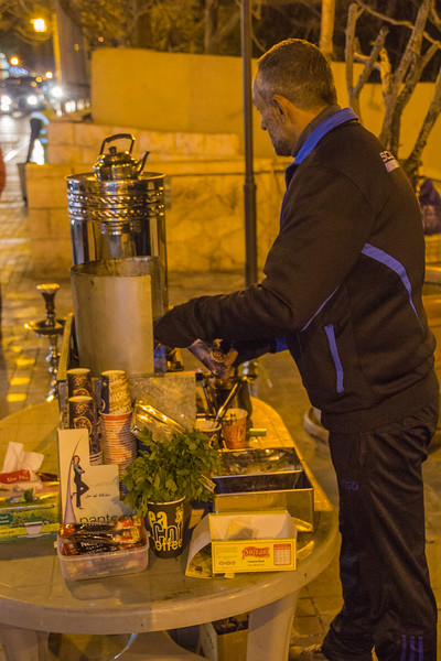 A Street Stand Selling Wonderful Coffee, Tea and Other Hot Drinks on Rainbow Street, Amman, Jordan (©simon@myeclecticimages.com)