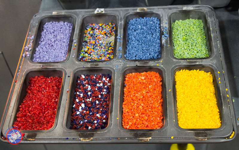 Colored Glass Beads Used to Add Color to Blown Glass (©simon@myeclecticimages.com)