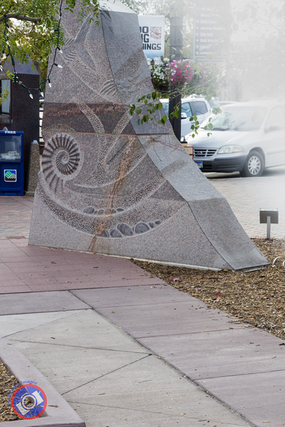 One of the Carved Granite Blocks in Main Street Square (©simon@myeclecticimages.com)