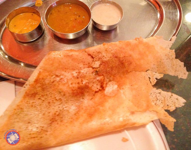 Pav Bhaji Dosa - a Speciality at Thanjai Restaurant (©simon@myeclecticimages.com)