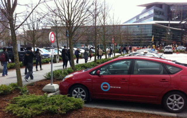 One of Modo's new locations, Surrey Central City, is conveniently located right next to SFU's Surrey campus