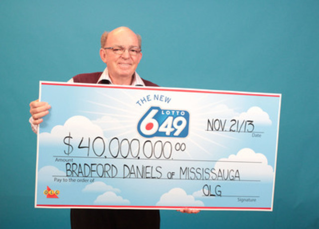 Bradford Daniels Of Mississauga Claims 40 000 000 Lotto 6