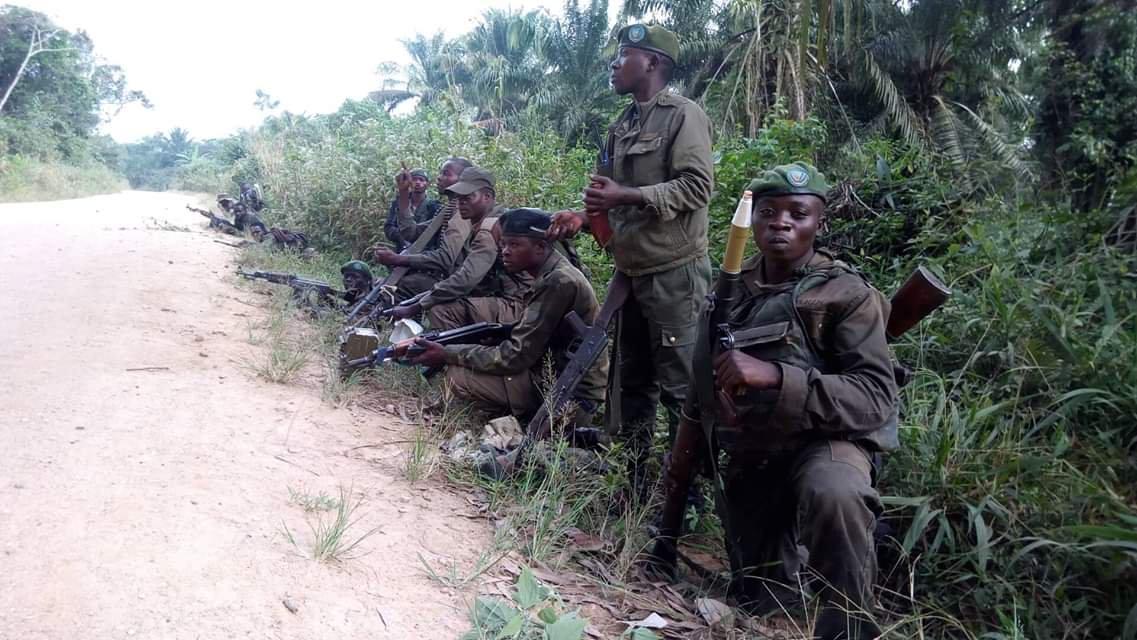 Les FARDC en zone opérationnelle de Beni. Photo FARDC.