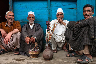 Hangout place next to butcher shop, Kashmir, India
