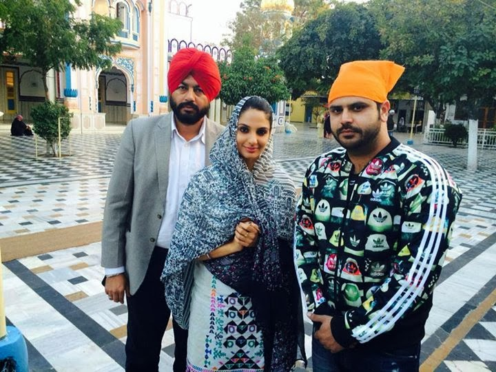 Punjabi Film Actress Japji Khaira with her Husband Pictures