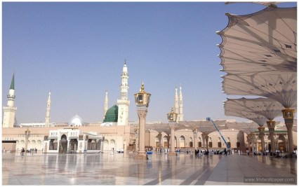 Masjid Nabawi Full HD Islamic Wallpaper Download