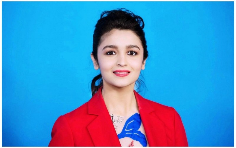 Alia Bhatt Photos in Red Coat cute images