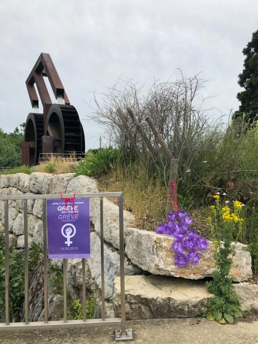 Fontaine du Millénaire - oeuvre de l'architecte Mario Botta