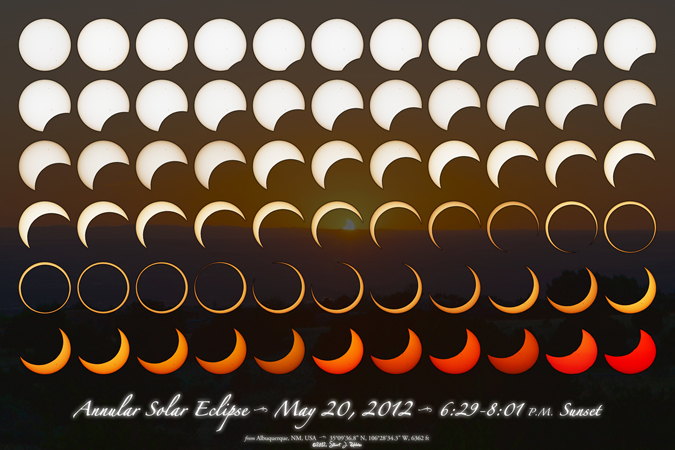 Annular Solar Eclipse Montage, Type 2c, Version 1.3