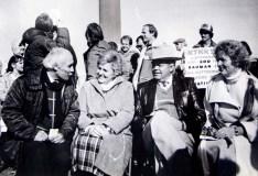 "File Photo | The Salt Lake TribuneKarl Momen, Colleen Bangerter, Governor Norm Bangerter, Carol Nixon at the Unveiling and Dedication of the ""Tree of Life"", January 18, 1986"