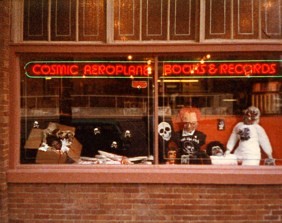 Photo courtesy Mike Evans Cosmic Aeroplane exterior at the  258 E. 100 South location. The store was here from 1976-1991.