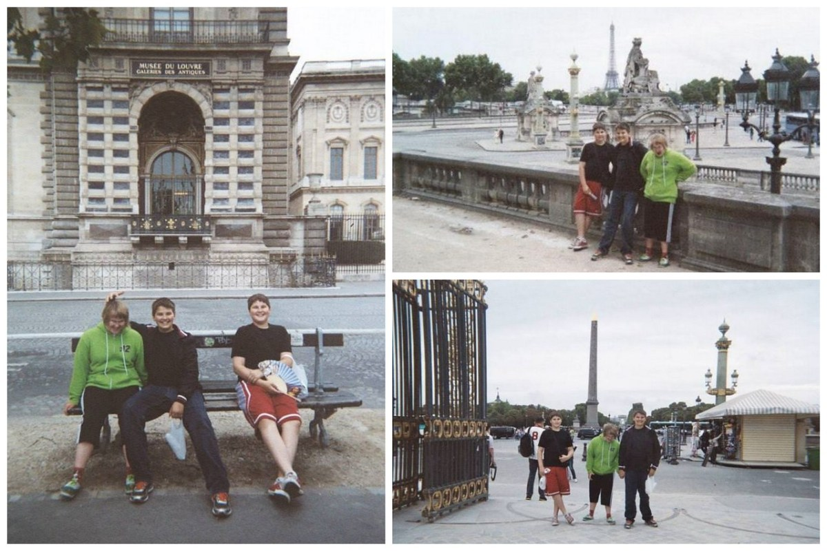 My Three Youngest Siblings Out and About in Paris, France