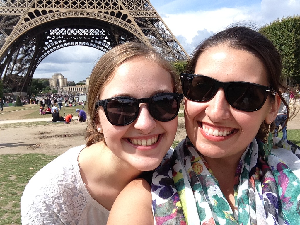 Michelle and I Cheesing Hard in Front of the Eiffel Tower