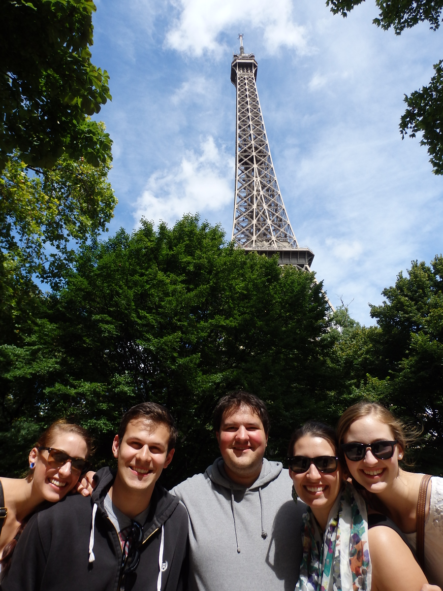My Siblings and I Visiting the Eiffel Tower