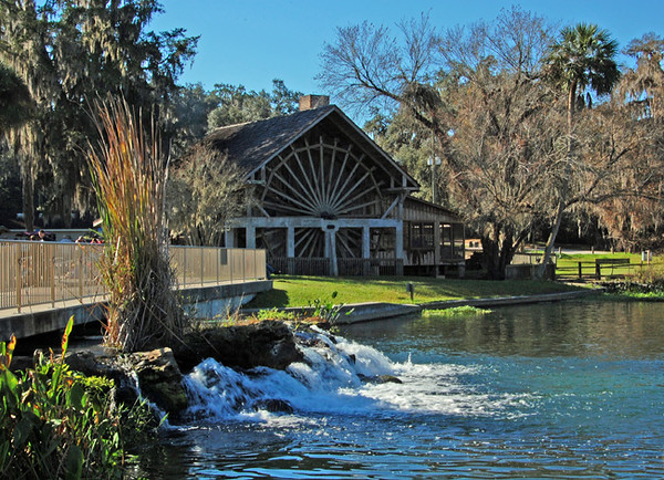 The Old Sugar Mill at De Leon Springs State Park, Scenic USA