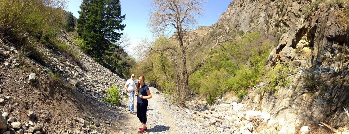 Panoramic Shot of the Rock Canyon Trail in Provo, Utah