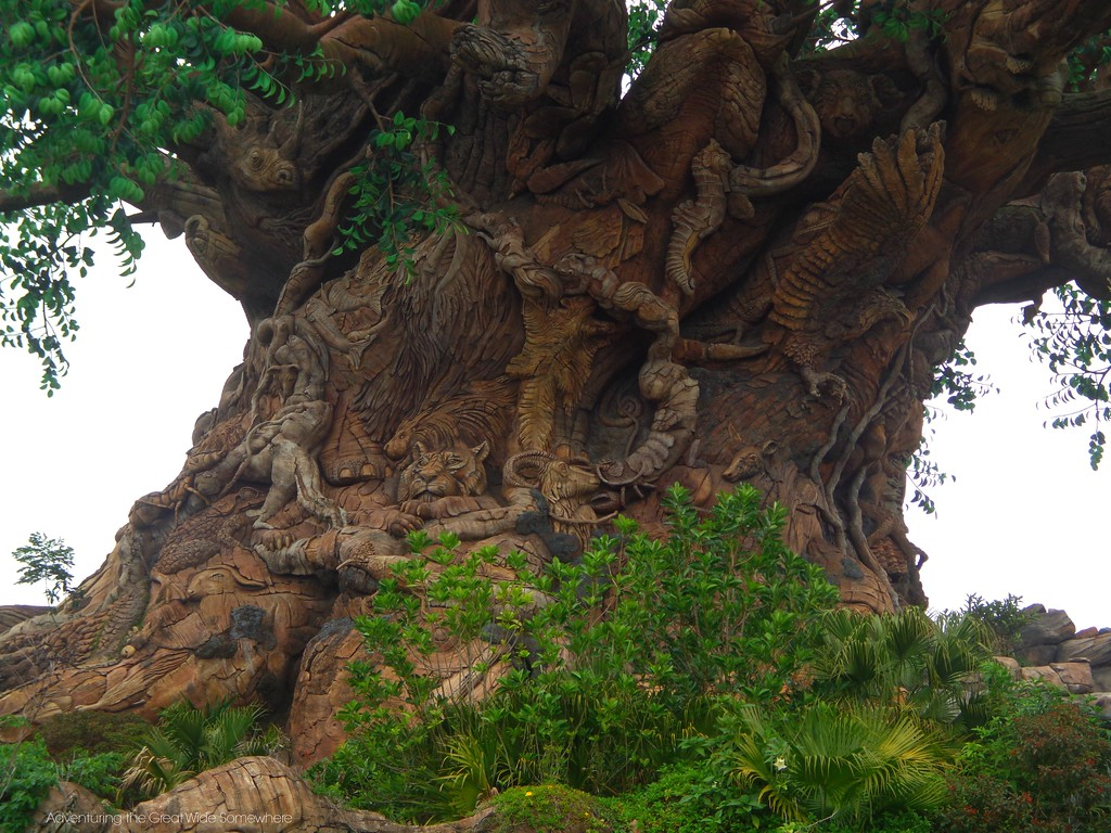 The Tree of Life at Disney's Animal Kingdom is Covered in Carved Animal Details