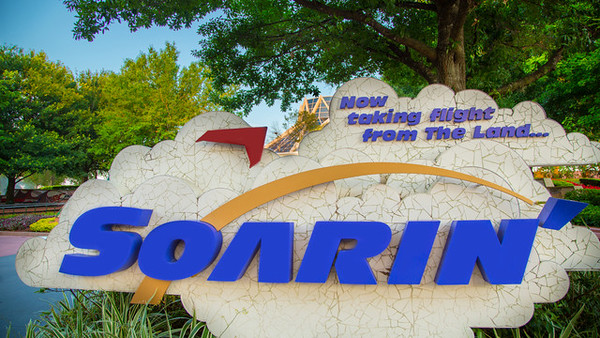 Soarin Entrance Sign at Epcot, Walt Disney World