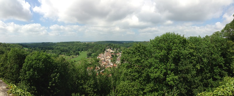 Panoramic Shot of Chaumont, France, from the Park