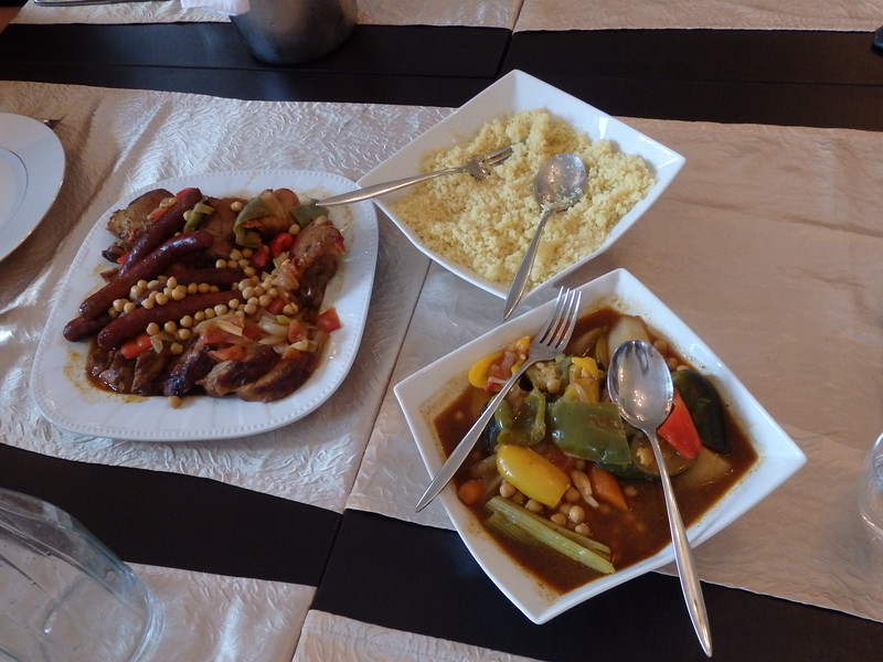 Moroccan Style Meats and Cous Cous at L'hôtel restaurant La Vallée in France