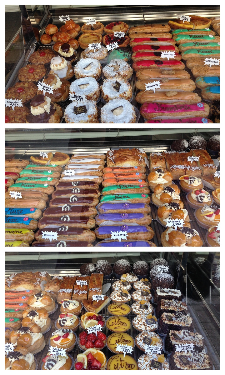 A Mouthwatering Pastry Display in the Centre Ville of Chaumont, France
