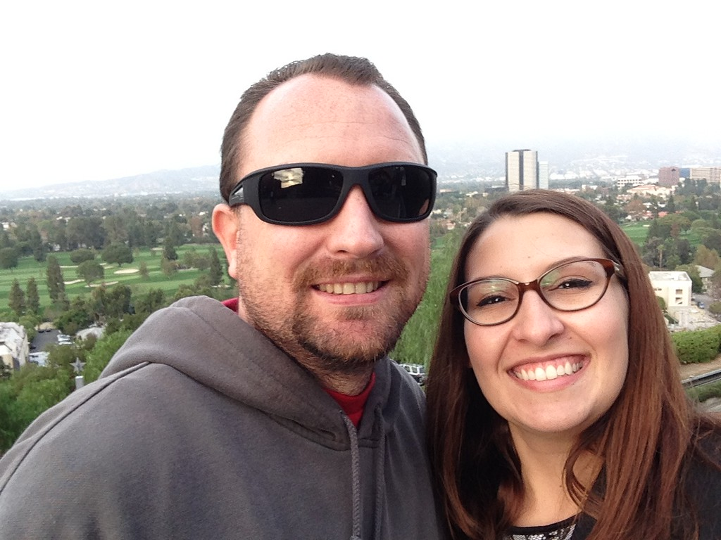 Dan and I Enjoying the View Over Hollywood From Universal Studios Hollywood