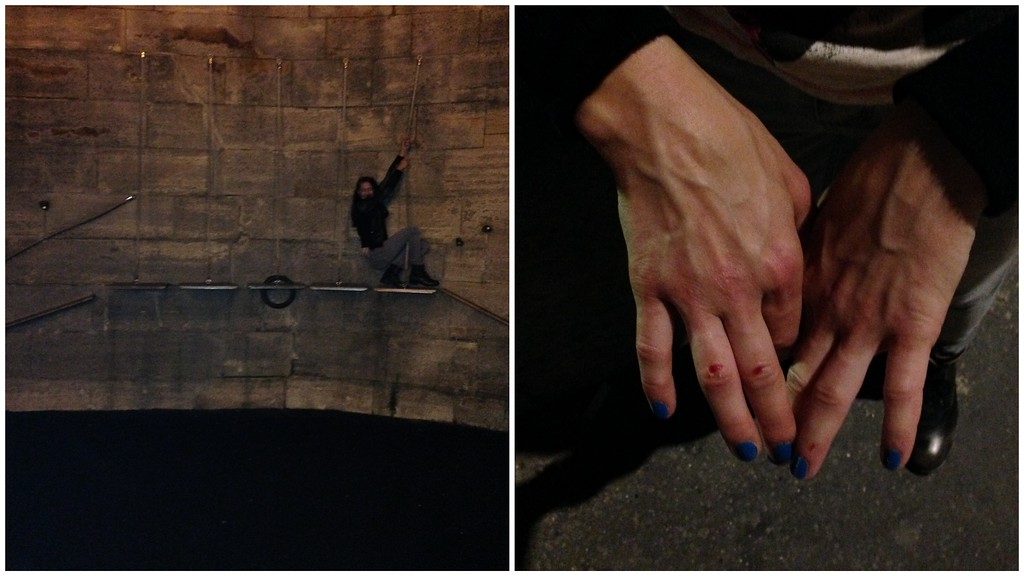 A Playground on the Banks of the Seine, and Jen's Bruised, Swollen Fingers