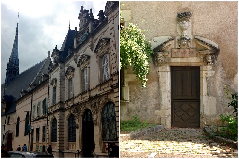 Romantic Old Buildings and Detailed Doors in the French City of Beaune