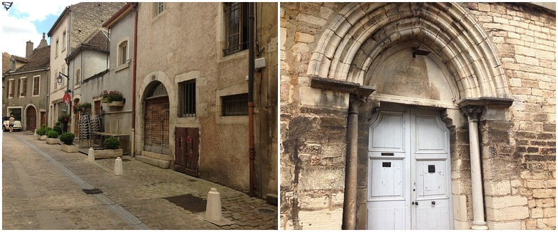 Charming City Streets and Buildings in the French City of Beaune
