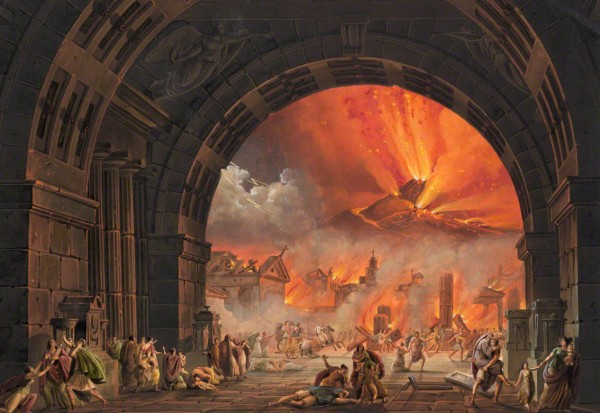 Painting of the Explosion of Mount Vesuvius, from Common Sense Canadian