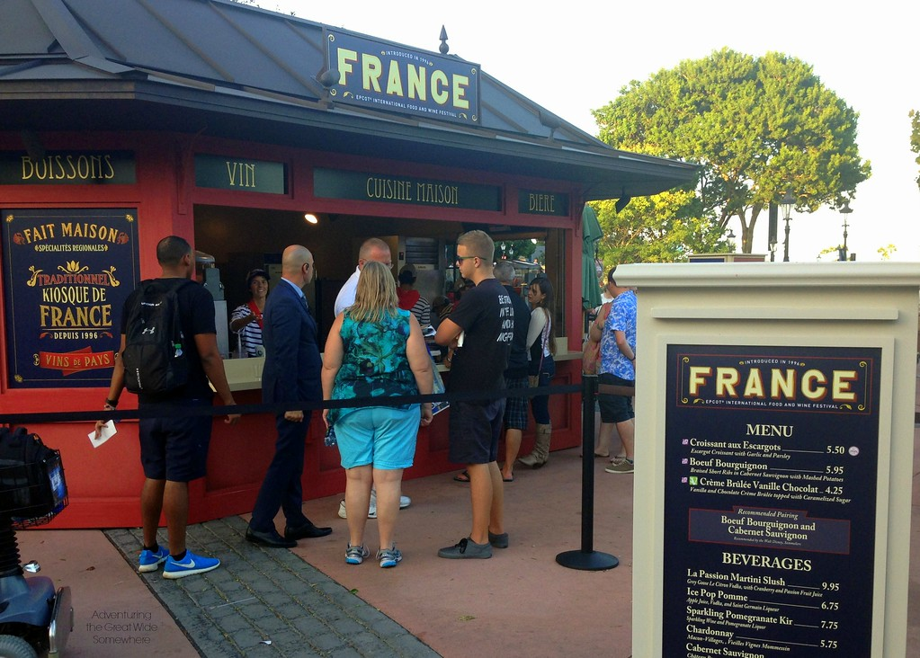 France Outdoor Kitchen at the 2015 Epcot International Food and Wine Festival at Walt Disney World