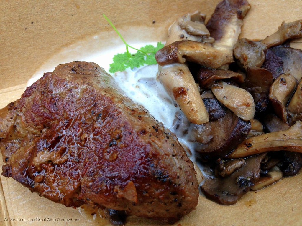 Le Cellier Filet Mignon with Mushrooms from Canada at the 2015 Epcot International Food and Wine Festival