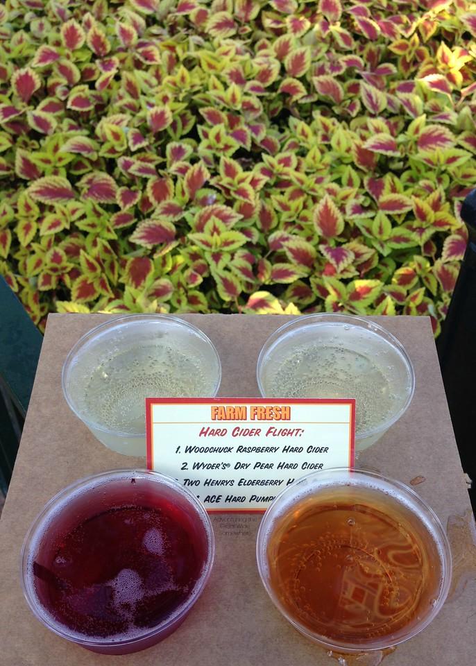 Farm Fresh Hard Cider Flight at the 2015 Epcot International Food and Wine Festival