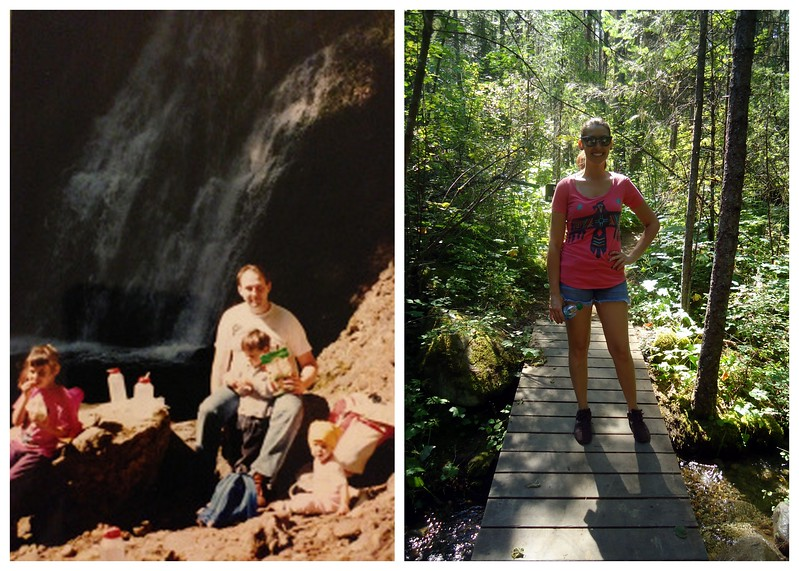 Hiking, Then and Now