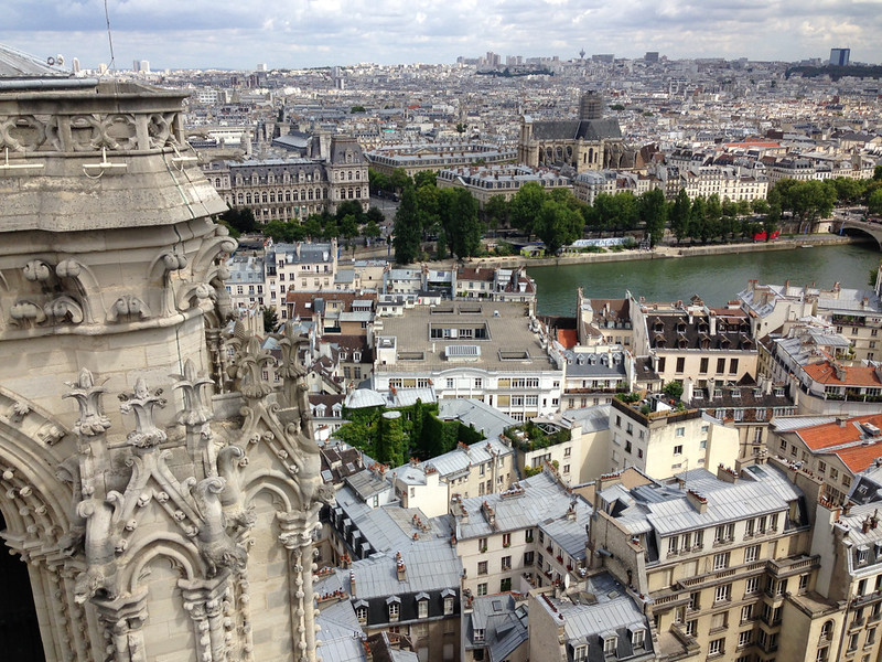 Beautiful Paris, Seen From the Top of Notre Dame Cathedral