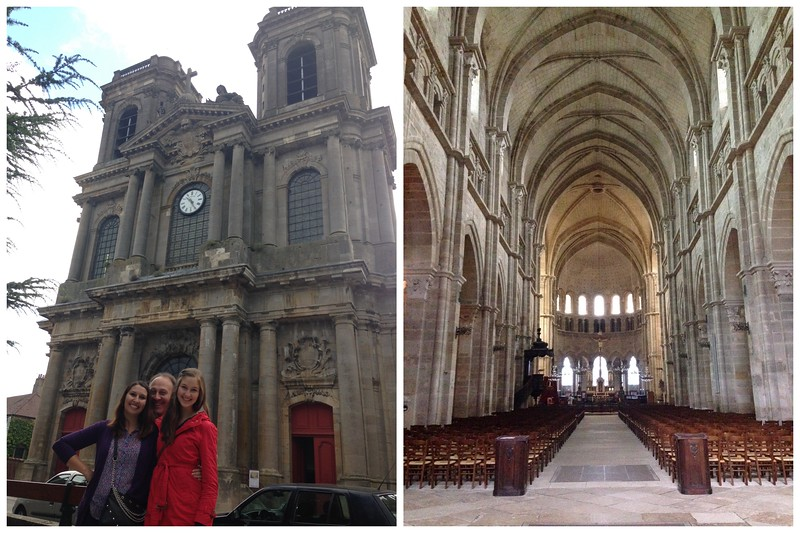 Interior and Exterior of the Langres Cathedral in Langres, France