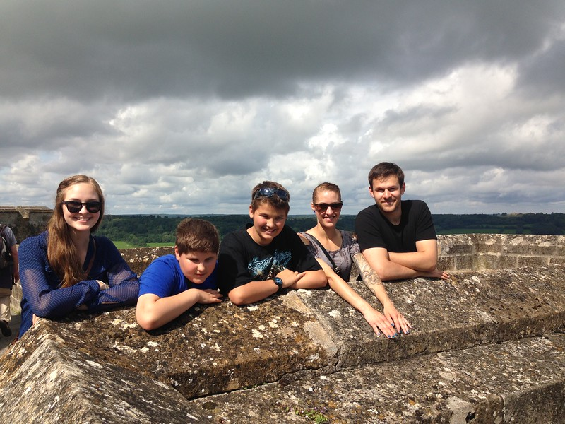My Siblings Posing on the Fortified City Walls of Langres, France