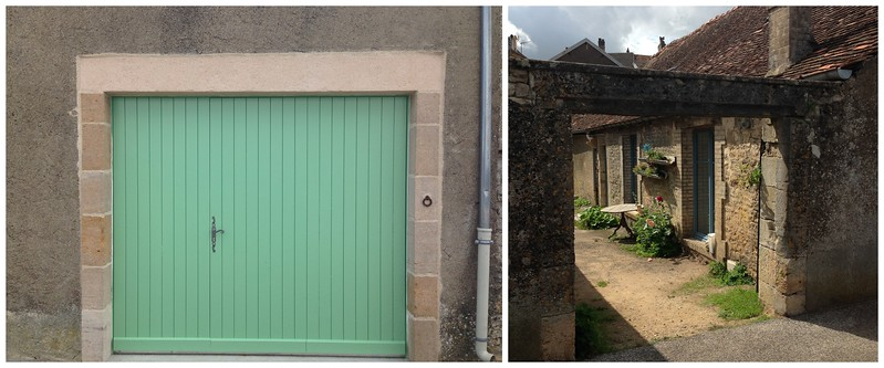 Large Mint Door and an Open Courtyard, the Entries to Two Homes in Beautiful Langres, France
