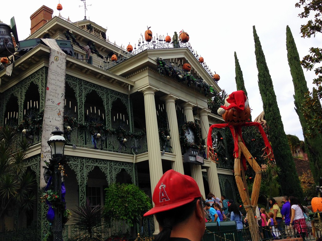 Disneyland's New Orleans Style Haunted Mansion Ride Dressed Up for the Holidays