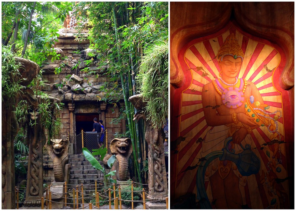 Details from the Queue Line for Disneyland's Indiana Jones and the Temple of the Forbidden Eye