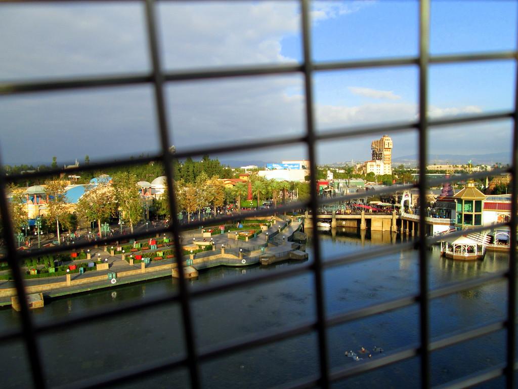 View of Disney's California Adventure Park from Mickey's Fun Wheel on Paradise Pier, Disneyland