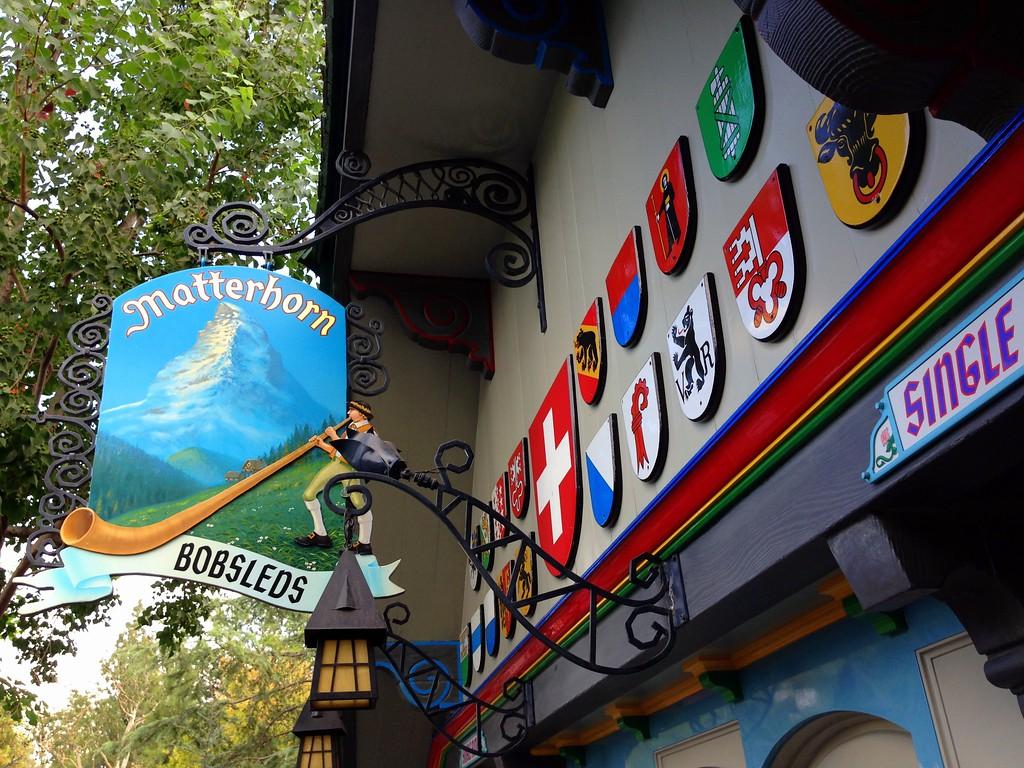 Loading Area for the Matterhorn Bobsleds at Disneyland